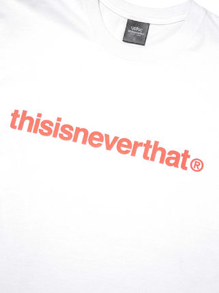 thisisneverthat More T-Shirts Unisex Street Style Collaboration Cotton Short Sleeves Logo 17
