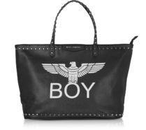 BOY LONDON Casual Style Faux Fur Studded A4 Logo Totes