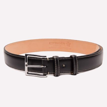 Unisex Plain Leather Long Belt Belts