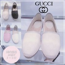 GUCCI Monogram Casual Style Flats