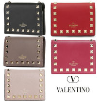 VALENTINO Leather Small Wallet Folding Wallets