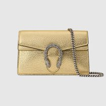 GUCCI Dionysus Chain Plain Leather With Jewels Crossbody Glitter Logo