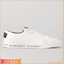 GIVENCHY Street Style Plain Leather Logo Low-Top Sneakers
