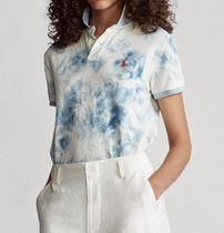 Ralph Lauren Tie-dye Cotton Short Sleeves Logo Polos
