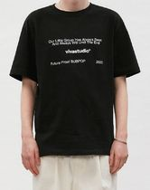 vivastudio Unisex Street Style Cotton Short Sleeves T-Shirts