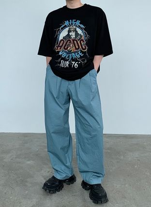 HUE More T-Shirts Street Style Collaboration Plain Cotton Short Sleeves 2