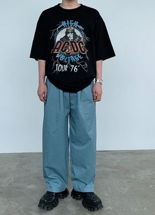 HUE More T-Shirts Street Style Collaboration Plain Cotton Short Sleeves 3