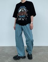 HUE More T-Shirts Street Style Collaboration Plain Cotton Short Sleeves 5
