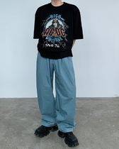 HUE More T-Shirts Street Style Collaboration Plain Cotton Short Sleeves 6