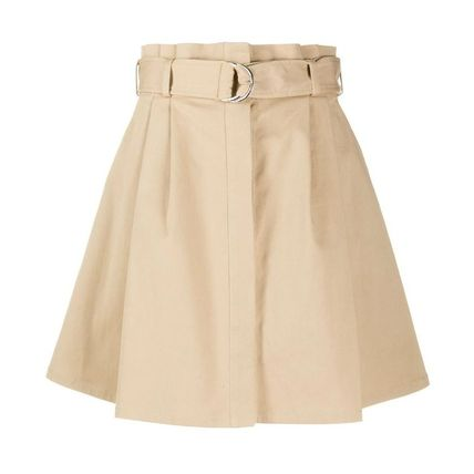 Flared Skirts Short Casual Style Plain Skirts