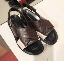 MARNI Leather Footbed Sandals Flat Sandals