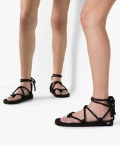 NOMADIC STATE OF MIND Open Toe Round Toe Lace-up Casual Style Flip Flops