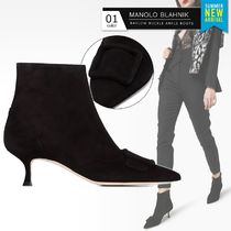 Manolo Blahnik Casual Style Suede Plain Party Style Elegant Style