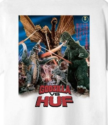 HUF More T-Shirts Street Style Collaboration Short Sleeves Logo Skater Style 3