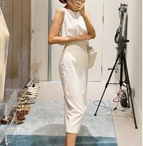 Pencil Skirts Casual Style Linen Street Style Plain Long