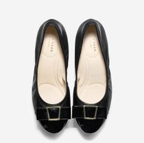 Cole Haan Plain Leather Kitten Heel Pumps & Mules