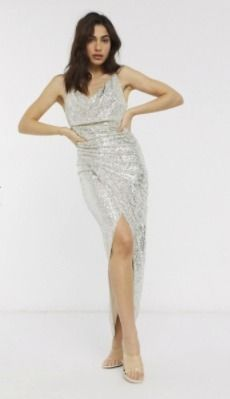 Blended Fabrics Sleeveless Long Elegant Style Glitter