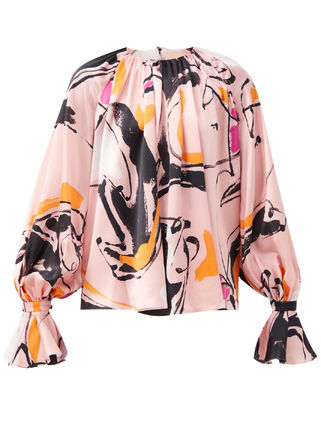 Casual Style Silk Long Sleeves Party Style Elegant Style