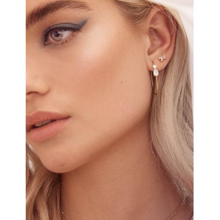 Street Style Party Style With Jewels Elegant Style Earrings