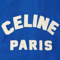 CELINE Short Bi-color Plain Logo Varsity Jackets