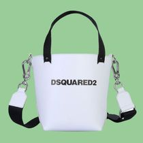 D SQUARED2 Casual Style Street Style 2WAY Leather Logo Handbags
