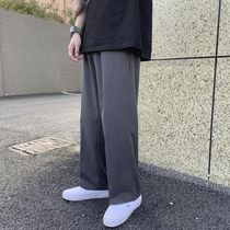 Unisex Street Style Plain Oversized Cropped Pants