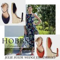 Hobbs London Open Toe Casual Style Suede Leather Party Style
