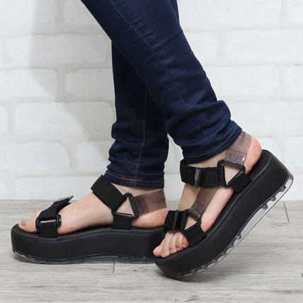 Open Toe Platform Rubber Sole Casual Style Unisex