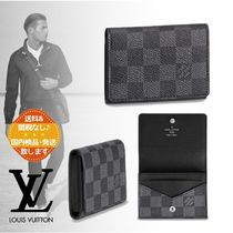 Louis Vuitton Leather Folding Wallet Card Holders