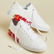 TED BAKER Tropical Patterns Platform Plain Toe Lace-up Casual Style