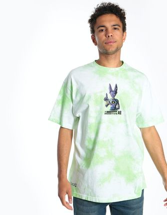 Crew Neck Pullovers Street Style Tie-dye Collaboration