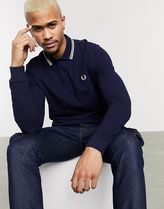 FRED PERRY Button-down Street Style Long Sleeves Plain Cotton Logo
