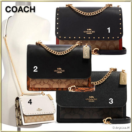 Coach Casual Style Unisex Canvas Blended Fabrics Street Style 2WAY