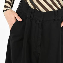 Dries Van Noten Casual Style Plain Cotton Medium Long Wide Leg Pants