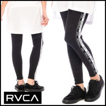 RVCA Casual Style Blended Fabrics Street Style Plain Cotton Long