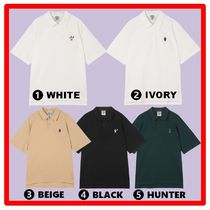 WHO.A.U Casual Style Unisex Street Style Short Sleeves Polos