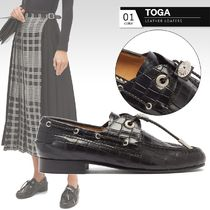 TOGA Round Toe Casual Style Other Animal Patterns Leather