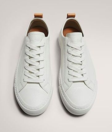 Casual Style Plain Leather Logo Low-Top Sneakers