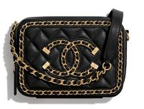 CHANEL Casual Style Calfskin Blended Fabrics 2WAY Bi-color Chain