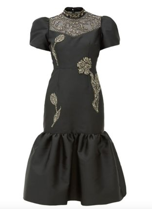 Tight Silk Flared Short Sleeves Party Style Elegant Style