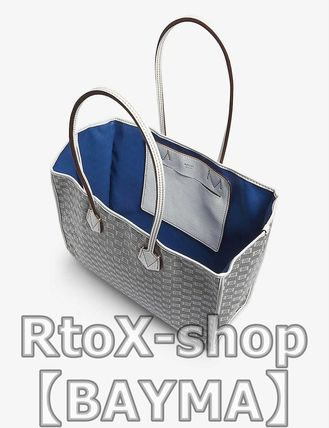 Unisex Plain Leather Totes