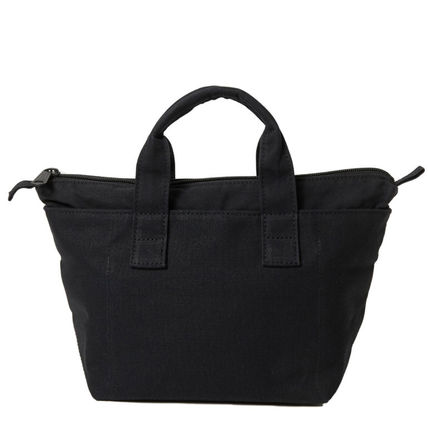 Unisex Canvas Street Style Bag in Bag Plain Logo Totes