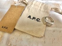 A.P.C. Plain Logo Rings