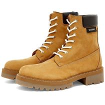 VETEMENTS Mountain Boots Suede Street Style Leather Logo Outdoor Boots