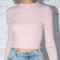 Brandy Melville Short Casual Style Nylon Rib Street Style Long Sleeves Plain