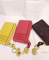 Chloe ALPHABET Calfskin Plain Coin Cases