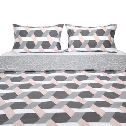 Unisex Comforter Covers Geometric Patterns Black & White
