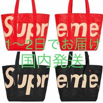 Supreme Unisex Canvas Street Style A4 2WAY Plain Oversized