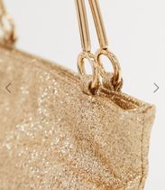 GLAMOROUS Casual Style Vanity Bags Party Style Glitter Bridal Handbags