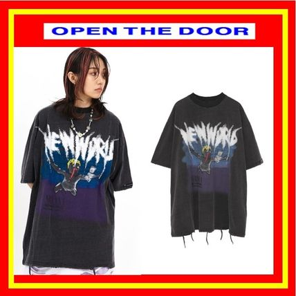 OPEN THE DOOR More T-Shirts Unisex Street Style Cotton Short Sleeves T-Shirts